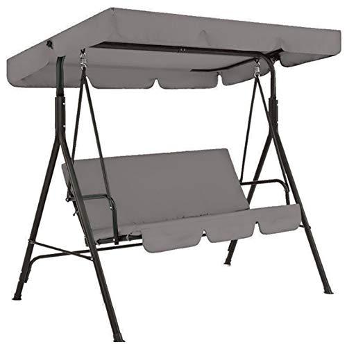 Juego de fundas de cojín para asiento, repuesto y silla de jardín al aire libre, protector solar impermeable para 3 plazas Patio Swing Yard Seat (sólo cover4)