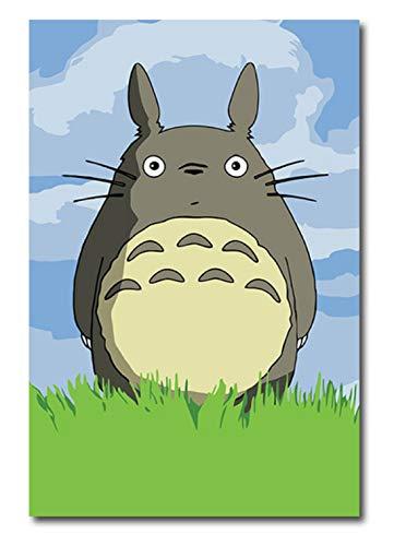 DIRART Sin Marco DIY Pintura Digital DIY Cuadros para Colorear con números con Colores Totoro Hayao Miyazaki Almas Picture diseño Pintar con números 40x 50cm