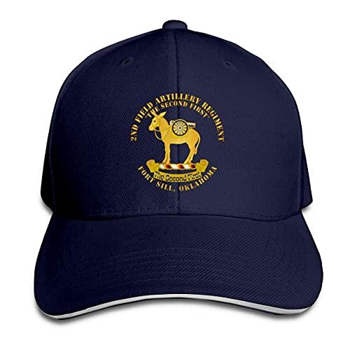Ahdyr Unisex Hut 2. Feld Artillerie Regiment - Fort Sill OK Baseball Caps Sandwich Caps