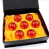 Anime Universe Collectible Dragon Balls Medium Crystal Glass Dragon Ball Z 7pcs Stars Balls with Gift Box 43 MM