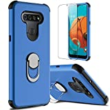 lovpec LG K51 Case with Soft TPU Screen Protector, Ring