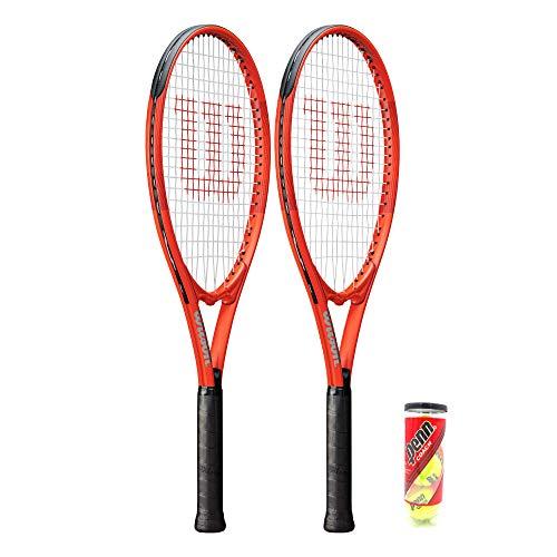 Wilson 2 raquetas de tenis XL serie + 3 pelotas de tenis (varias opciones) (Pro Staff XL Precision)