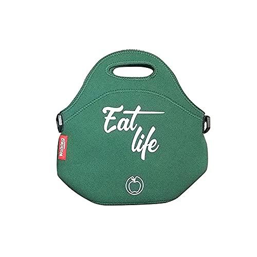 Bergner Bolsa de almuerzo de neopreno Eat life ø30 x 17 cm verde, 30 x 30 x 17