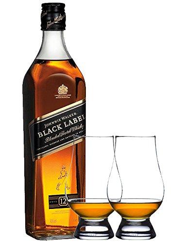 Johnnie Walker 12 Jahre Black Label 0,7 Liter + 2 Glencairn Gläser