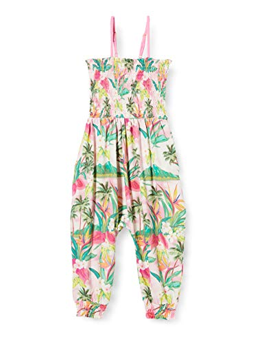 Desigual Pant_melón Pantalones, Rosa (Rosa Helado 3021), 116 (Talla del Fabricante: 5/6) para Niñas