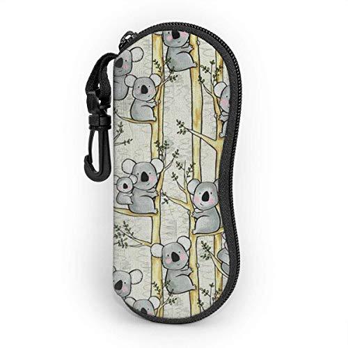 Bran-don Gafas de sol Estuche blando Estuche para gafas con clip para cinturón, Koala Madre y bebé