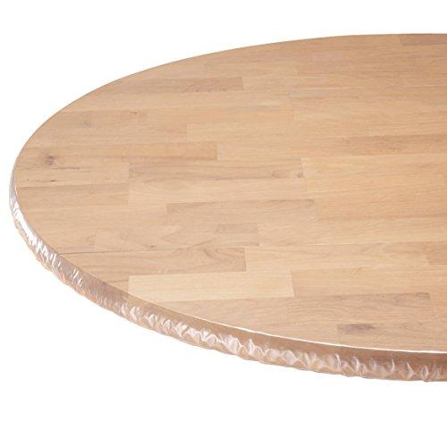WalterDrake Clear Vinyl Elasticized Table Cover 42' x 68' Oval/Oblong