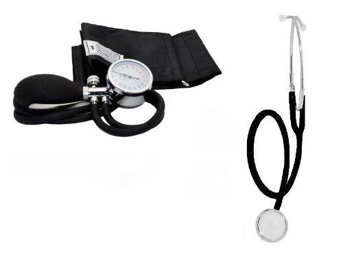 Blutdruckmessgerät Aneroid 2-Schlauch + Stethoskop Farbe schwarz
