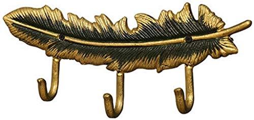 Perchero Perchas de Ganchos de la Pared de la Pluma de la Vendimia, Ropa de Toalla Sombrero Colgador de Teclas, para Colgar Toallas de Toallas Bolsas y paños