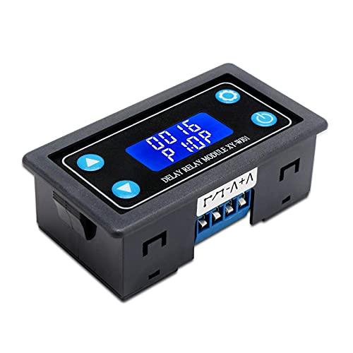 Módulo de relé de retardo APKLVSR, relé temporizador digital DC 6-30 V, 12 V, 24 V, 0,01-9999min 50mA on/off controlador con pantalla LCD para control inteligente