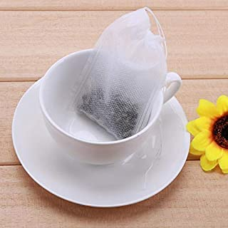 Professional 100pcs Lot Two Sizes Non Woven Fabrics Teabags Empty Tea Bags With String, Fabric Reusable Bags - Bags Tea, Sunbrella Fabric Remnants, Tea Ads, Drawstring Bag X, Woven Filter Fabric