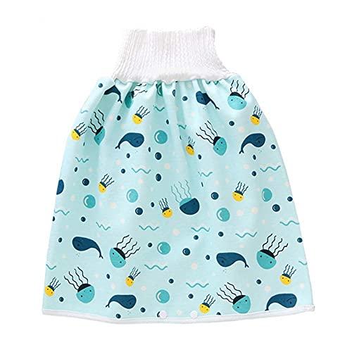 WZDTNL Pantalones de entrenamiento para bebés, 2 en 1, impermeables, reutilizables, para...