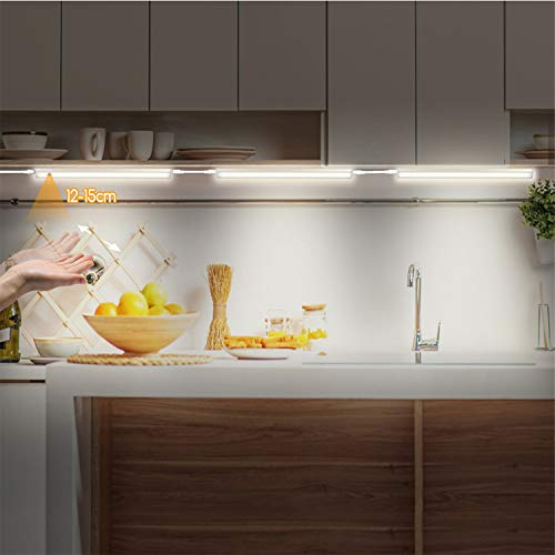 Luz LED con sensor de movimiento, barra de luz para armario, con tira magnética para muchos espacios (#2)