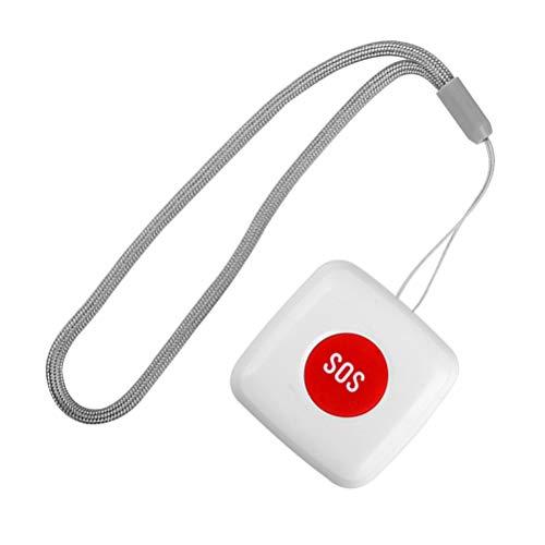 UKCOCO 1 Pc Sos Botón de Llamada de Emergencia Remoto Inalámbrico Cuidador de Llamadas Buscapersonas Alerta Sistema de Ayuda Al Paciente para El Hogar Personal Ancianos Mayores