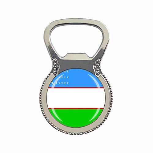 Flaschenöffner mit Flagge von Usbekistan, Kühlschrankmagnet, Metall, Glas, Kristall, Reise-Souvenir, Geschenk, Heimdekoration