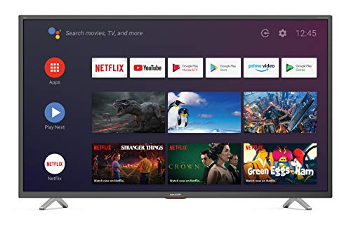 SHARP Android TV 40BN6EA, 101 cm (40 Zoll) Fernseher, 4K Ultra HD LED, Google Assistant, Amazon Video, Harman/Kardon Soundsystem, Dolby Vision, Dolby Atmos, HDR10, HLG, Bluetooth schwarz