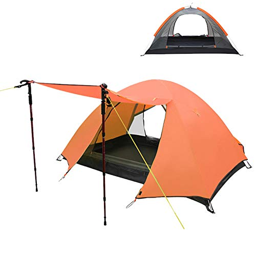 Camping Tent 1 and 2 Person Lightweight Backpacking Tent Waterproof 2 Doors Easy Setup Tent for Outdoor, Hiking Mountaineering Travel
