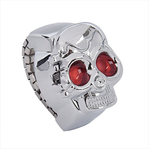 KU Syang Rot Augen-Schaedel-Entwurf Band-Quarz-Uhr