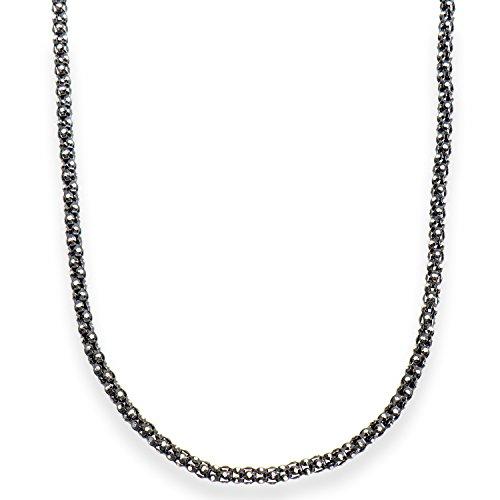 Aleksander Sternen La Barca Collier Halskette Popkorn Sterling Silber 925 Bicolor rutheniert
