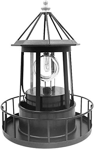 DIF Solar LED Leuchtturm Lichter Garten Ornamente Laterne Große rotierende wasserdichte Außenlampe für Deck Zaun Lichter Yard Patio Beleuchtung