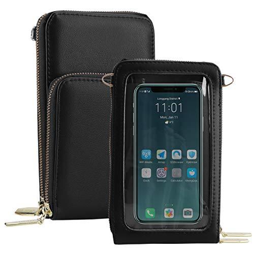 I-WILL Umhängetasche Handytasche für Damen, Transparenter Touchscreen Tasche Handy Wasserdicht Handtasche Schultertasche Frauen Brieftasche Crossbody für Handy unter 6.5 Zoll iPhone 12 11 Pro Max, XR