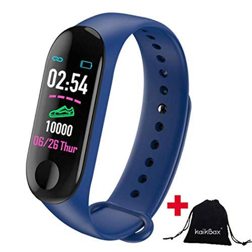 BoBoLing Blue Smart Watch - Fitness Tracker with Heart Rate Monitor - Waterproof Step Counter - Pedometer Smart Band Wristbands Bracelet for Women Men Kids Best QualityShop