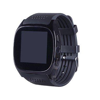 LIANHUAJIEDAO Lemumu HHY Neue T8M Smart Watch Herzfrequenz Bluetooth Call Schritt Motion Tracking Fernbedienung Selbstauslöser Smart Armbanduhr für Android IOS, Weiß