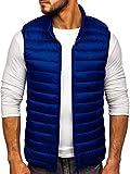 BOLF Hombre Chaleco Guateado Cierre de Cremallera Cuello Elevado Estilo Deportivo J.Style LY32 Azul Oscuro M [4D4]