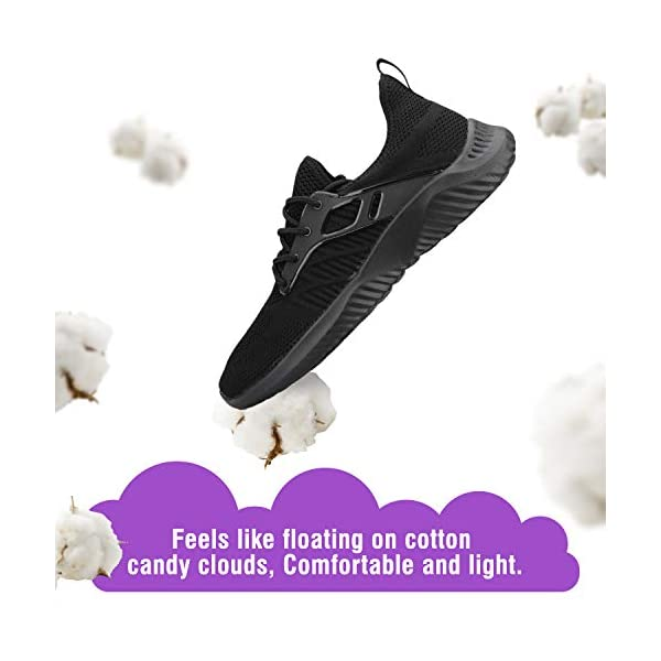 Footfox Men's Walking Slip-On Sneakers Lightweight Breathable Fashion Athletic Gym Casual Tennis Shoes