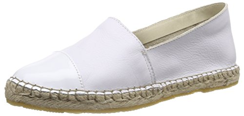 PIECES Damen PSJOSEPHINE Leather Espadrillos Espadrilles, Weiß (Bright White), 36
