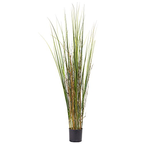 Nearly Natural Grass & Bamboo Plant, 4'