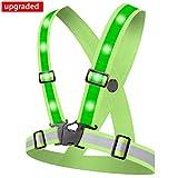 Alviller LED Reflektorweste mit 12 LED Lichter,Sicherheitsweste High Reflector Reflektierende Weste...
