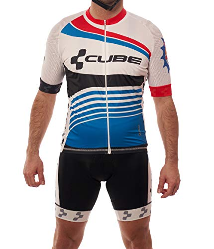 Manzur Cycling Design Completo di maglia da ciclismo, tessuto ultraleggero italiano di ultima generazione, trattamento igienico sanitario, fondello Coolmax con tecnologia X-Static. Completo 1518 L