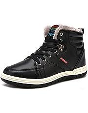 [SIXSPACE] スノーブーツ メンズ 防滑 スノーシューズ ショート ブーツ 防水 防寒 保暖 冬用 ウィンターブーツ 綿靴 雪靴 ブルー 27cm