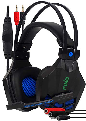 Fone Gamer Headset Para Jogos Celular Pc Ps4 E Xbox Stereo com adaptador