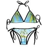 Bikini de Mujer I Love Ladies no Underwire Bikini Underwear Ballet with Adjustable Straps Bikini Swimsuit Ballerina Inside