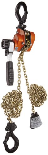 CM 603 Series Mini Ratchet Lever Chain Hoist, 6-3/8' Lever, 1100 lbs Capacity, 10' Lift Height, 1' Opening