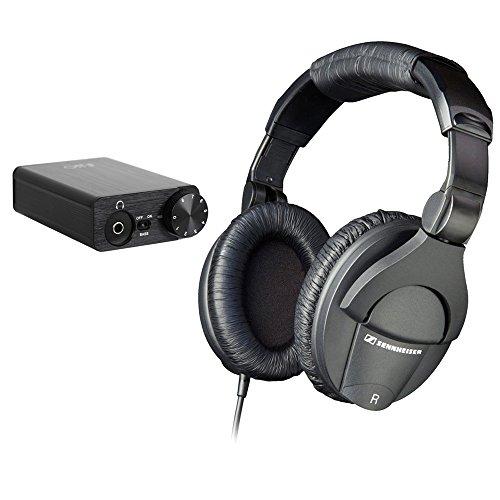 Sennheiser HD 280 Pro Circumaural Closed-Back Monitor Headphones with FiiO E10K USB DAC Amplifier