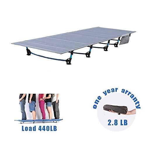 HUKOER Campingbett faltbar,190 x 70 x 17 cm,Belastbarkeit bis 200 kg,2,8 kg Ultraleicht Reisebett im Freien Camping-Ausrüstung