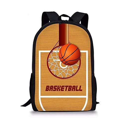 Bingyingne Mochilas de senderismo de viaje de canasta de baloncesto para niños adolescentes Mochila
