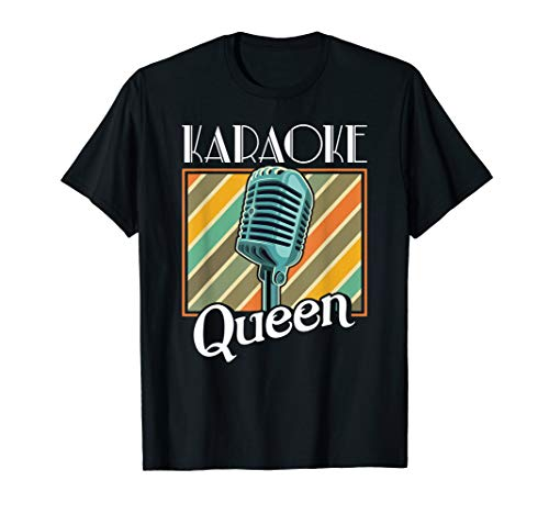 Karaoke Queen Shirt Retro Karaoke Microphone Gift T-Shirt