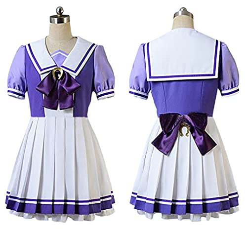 """Uma Musume Pretty Derby Special Week Costume, """"Instant Delivery"""" (Woman' Pretty Derby Special Week Costume) Cosplay Costume, qiqidianpu Cosplay Clothing, Anime Costume, Cosplay Event, Party, Disguise, Halloween Costume, Cultural Festival, Kids Cosplay, Birthday Present, Uniform, Costume (Uma Musume Summer Clothing, Women's M)"""