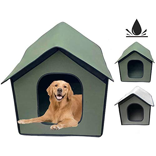 GuoYQ Pet House Outdoor, EVA Foldable Pet Shelter, Portable Folding Pet Tent Dog House Cage, Tent Playpen Puppy Kennel, Outdoor Yard Travel Camping for Dog Cat, Safe Warm