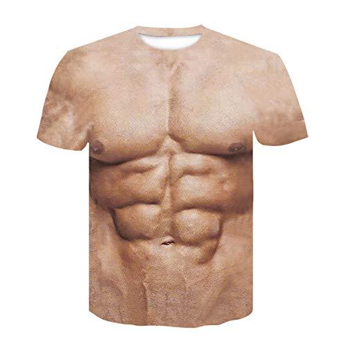 SSBZYES Camiseta para Hombre Verano Camiseta De Manga Corta para Hombre Camiseta De Gran Tamaño para Hombre Moda Street Muscle Men Camiseta Estampada En 3D Camiseta Casual para Hombre