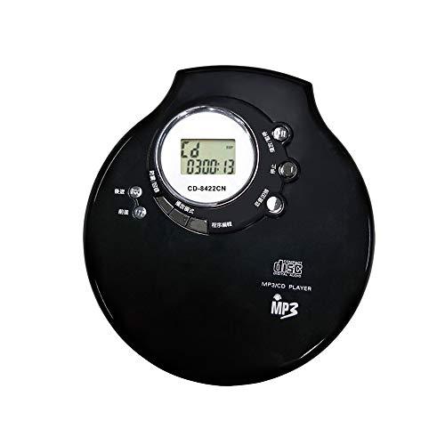 Audio Air CD - super platte, draagbare CD-speler met bescherming tegen schokken, draadloze bluetooth-overdracht, hoofdtelefoonuitgang en optionele USB/batterijvoeding