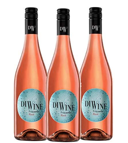 Diwine 5.5 Vino Frizzante Rosé Espumoso caja de 3, Valdecuevas, 750 ml, x3, tempranillo