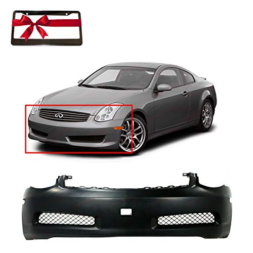 Front Plastic Bumper Cover Fascia For 2003-2007 Infiniti G35 Base Sport Coupe 03-07. New, Primed and Ready for Paint. IN1000122 62022AM825 2004 2005 2006