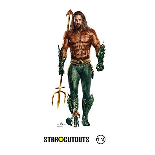 STAR CUTOUTS Ltd SC1397 Aquaman Jason Momoa Pappaufsteller für Superhelden-Events, Geschenke und Partys, Lebensgröße, Höhe 194 cm, Mehrfarbig