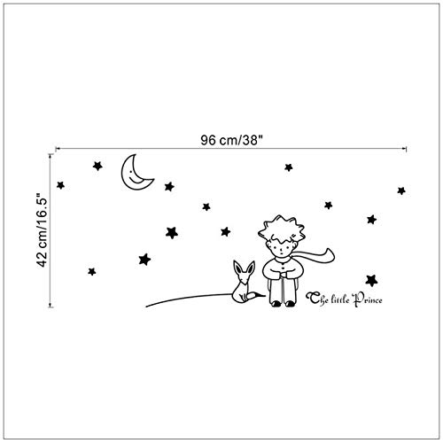 Le petit Prince Fox Star Moon Wall Sticker Kids Baby Nursery Room Decor enfant cadeau vinyle autocollant 8518. décoration Art mural