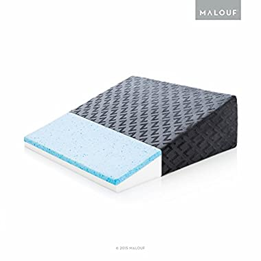 Z Gel-Infused Memory Foam Wedge Pillow - Therapeutic Bed Wedge with Removable Rayon from Bamboo Cover